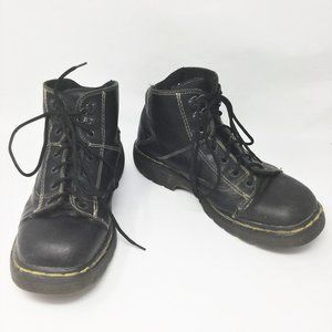 Dr. Martens Black Lace Up Leather Ankle Boots US11